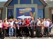 Straw Hat Pizza Ribbon Cutting