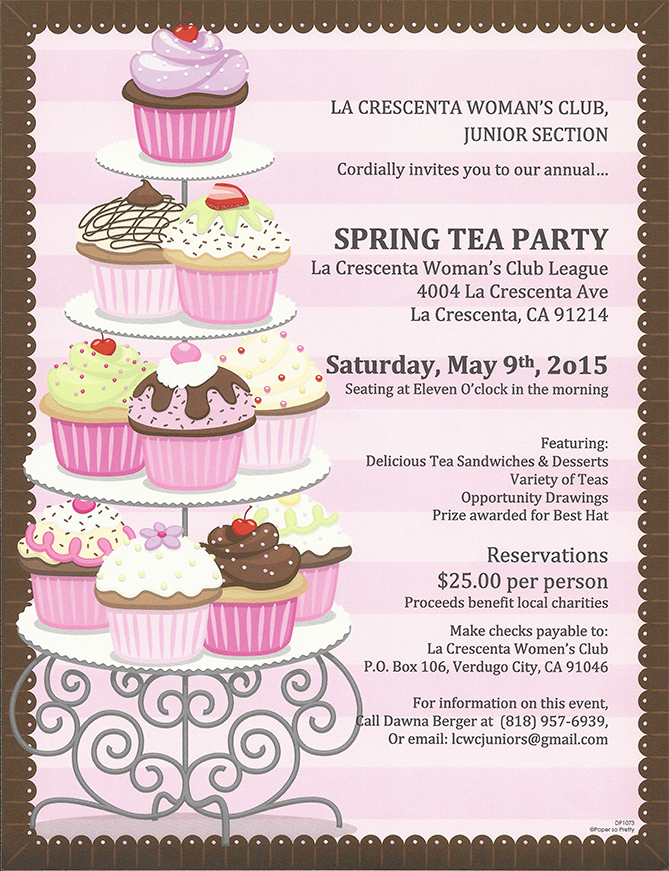 tea party flyers