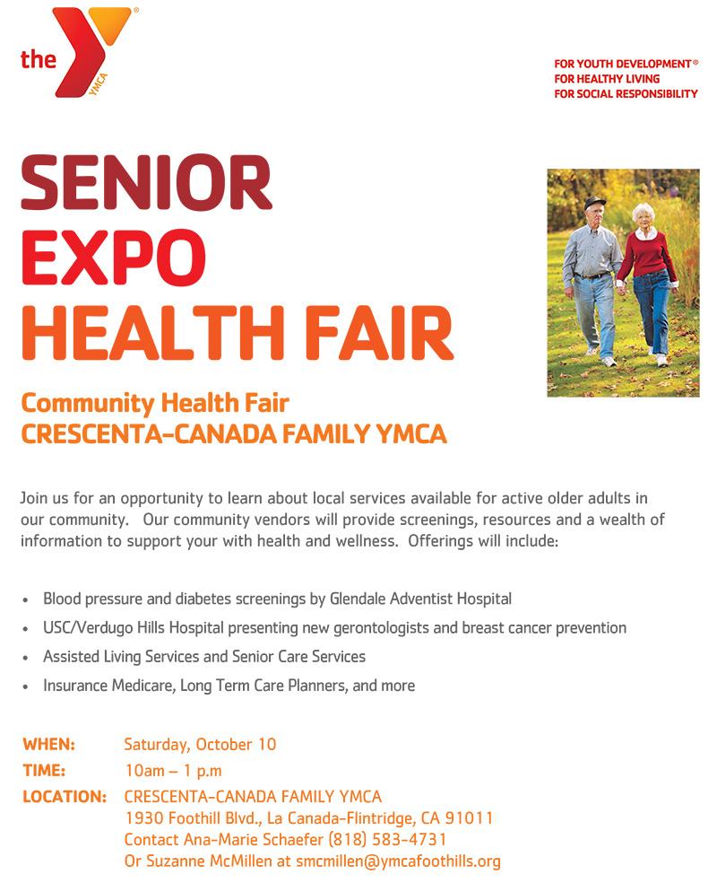 Senior Health Expo @ Crescenta-Canada Family YMCA | Calistoga | California | United States