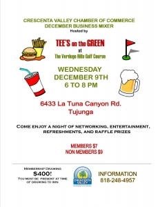 CV Chamber December Mixer @ Tee's on the Green at Verdugo Hills Golf Course | Los Angeles | California | United States