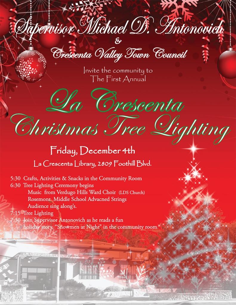 La Crescenta Christmas Tree Lighting @ La Crescenta Library | La Crescenta-Montrose | California | United States