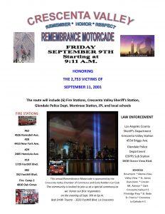 9-11 Motorcade Event @ TBA