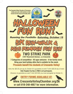 Running the Foothills - Halloween Fun Run @ Two Strike Park | La Crescenta-Montrose | California | United States