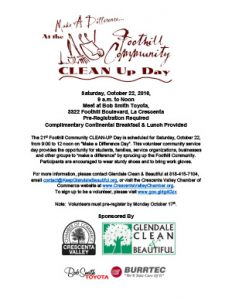 21st Foothill Community CLEAN-UP Day @ Bob Smith Toyota | Glendale | California | United States