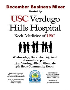 December Business Mixer @ USC Verdugo Hills Hospital | Glendale | California | United States