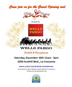 Grand Opening & Ribbon Cutting @ Wells Fargo Foothill & Pennsylvania | Glendale | California | United States