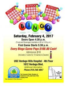 BINGO @ USC Verdugo Hills Hospital - 4th Floor | Glendale | California | United States