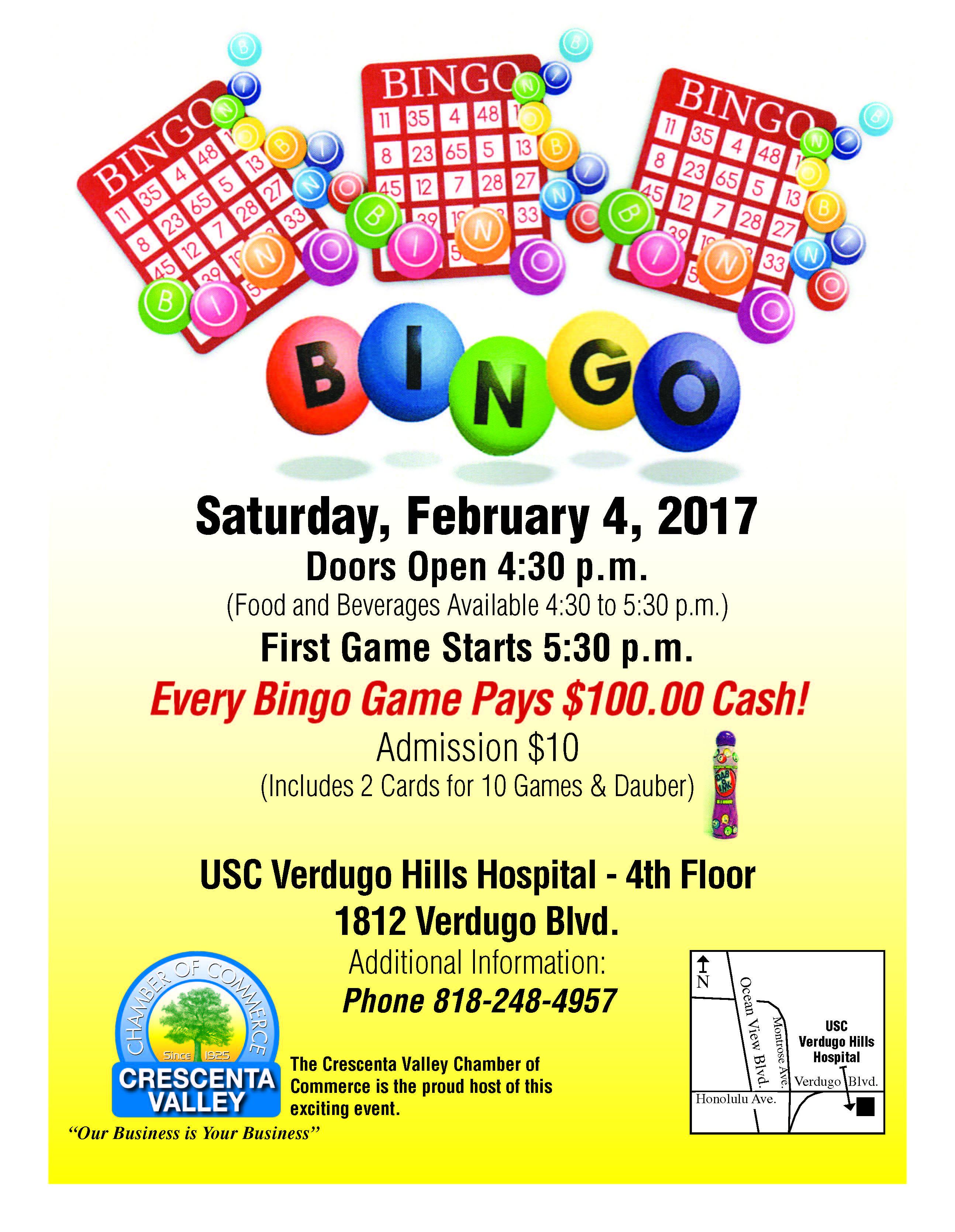 BINGO @ USC Verdugo Hills Hospital - 4th Floor   Glendale   California   United States