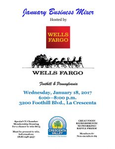 CV Chamber January Mixer @ Wells Fargo | Glendale | California | United States