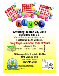 Bingo Night @ USC Verdugo Hills Hospital | Glendale | California | United States