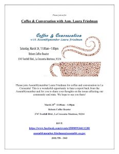 Coffee & Convo w/Laura Freidman @ Reborn Coffee Roasters | Glendale | California | United States