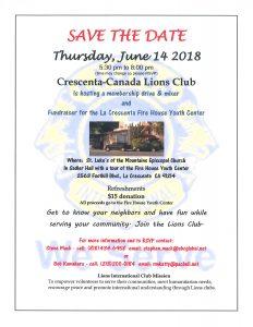 Crescenta-Canada Lions Club Membership Drive