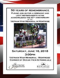 Montrose Vietnam War Memorial 50th Anniversary @ Corner of Ocean View and Honolulu | Glendale | California | United States