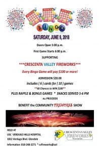 CV Fireworks Bingo @ USC Verdugo Hills Hospital | Glendale | California | United States