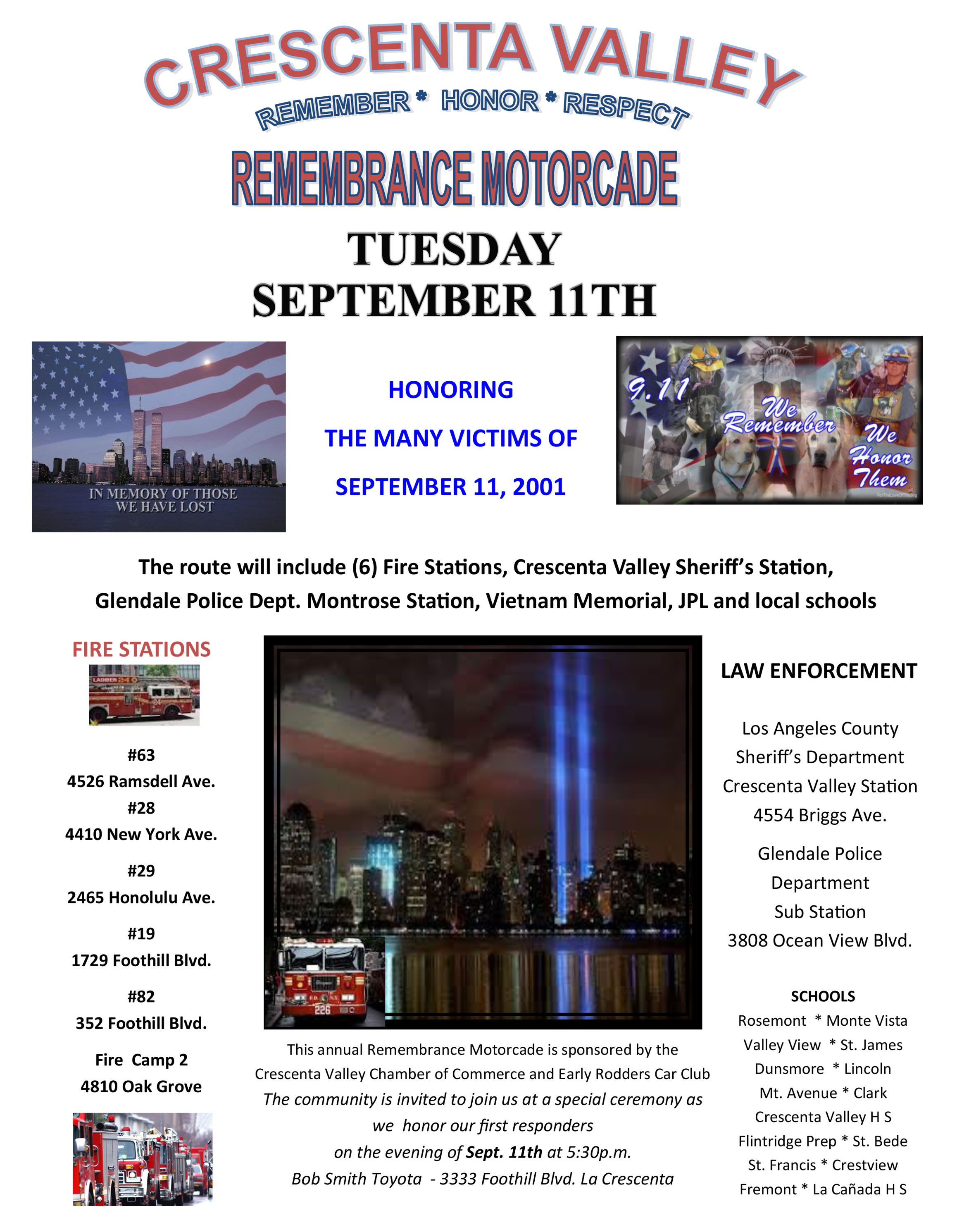 Crescenta Valley Remembrance Motorcade