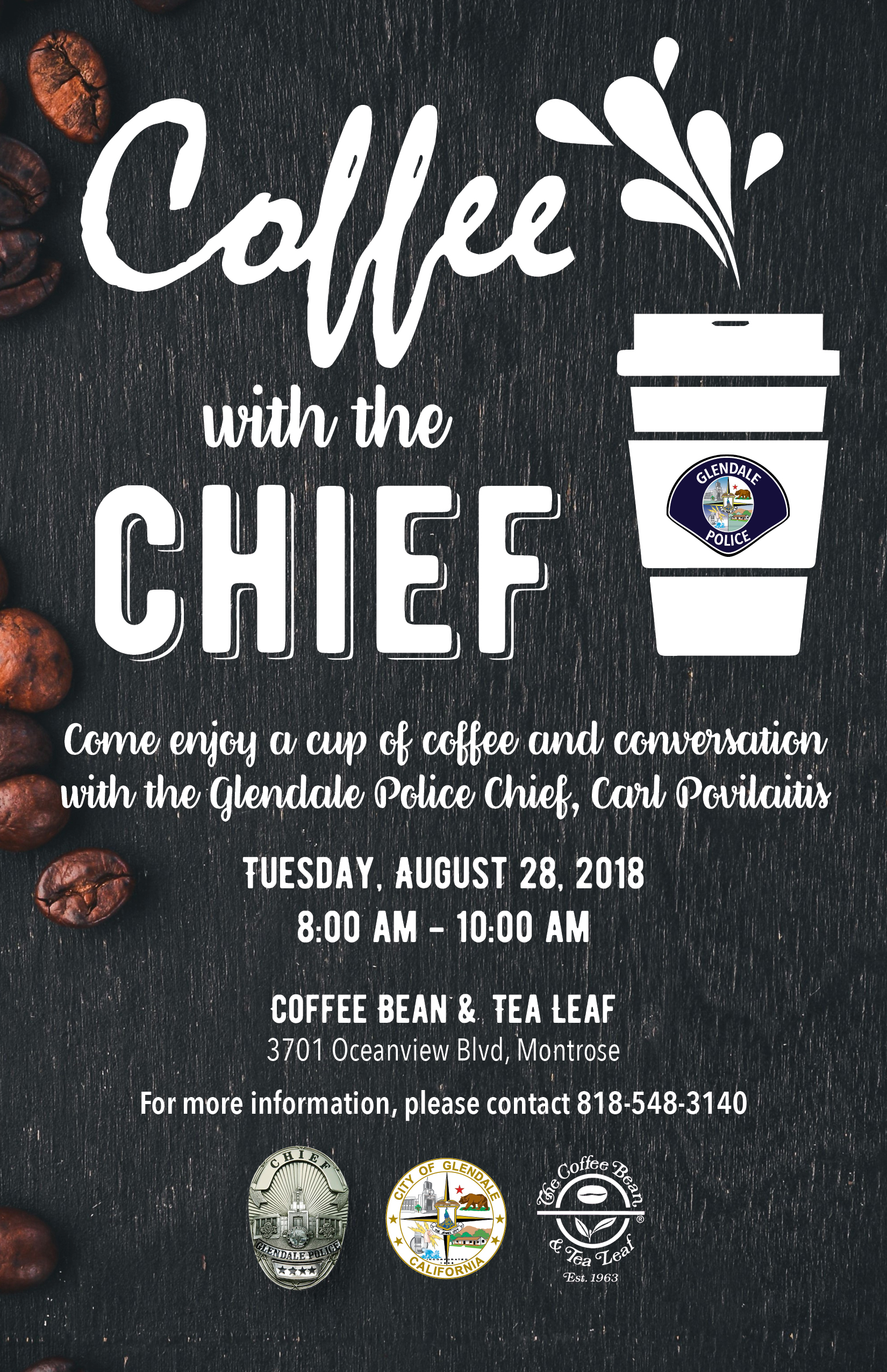 Coffee with the Chief @ Coffee Bean & Tea Leaf | Glendale | California | United States