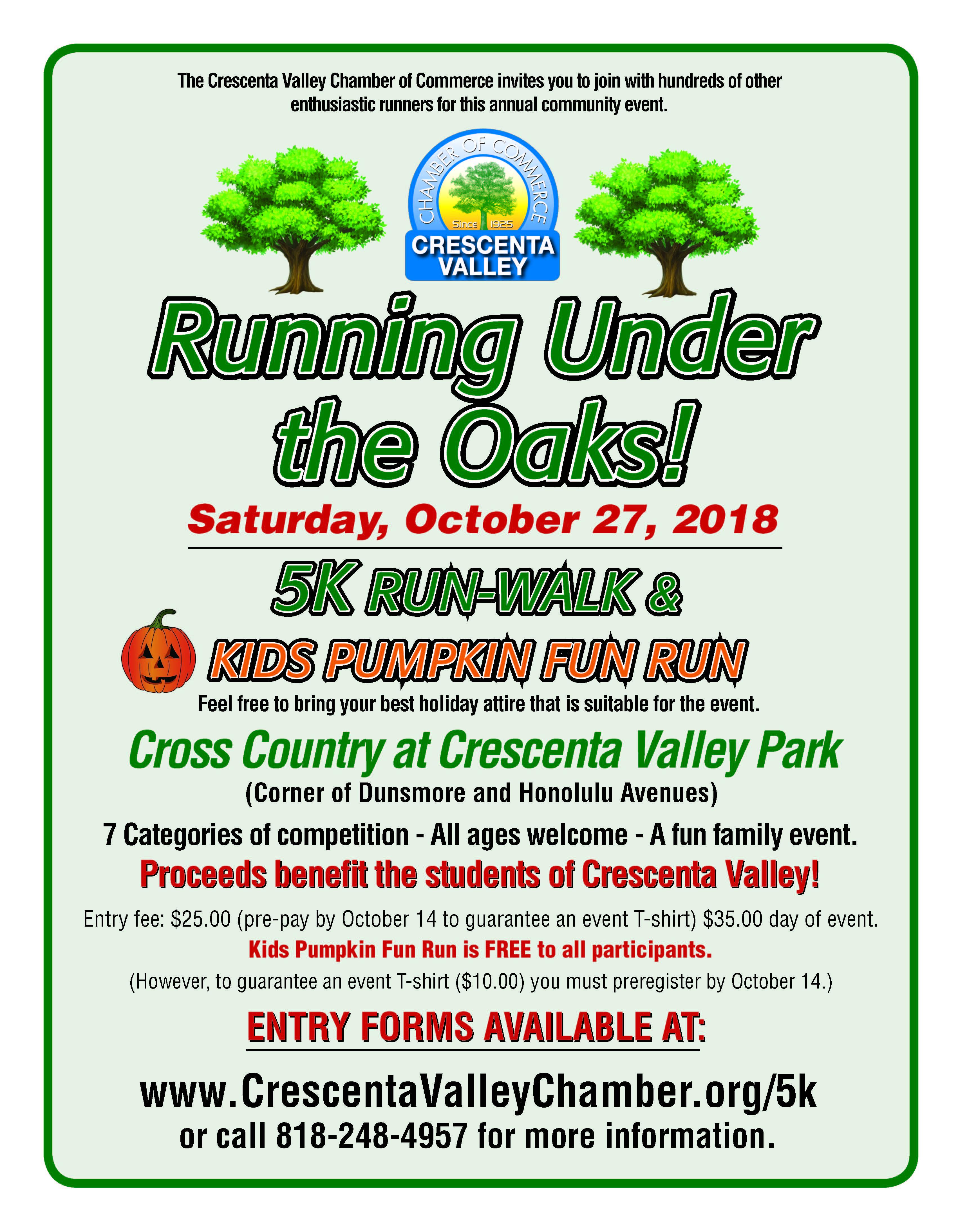 Running Under the Oaks 5K @ Crescenta Valley Park | Glendale | California | United States