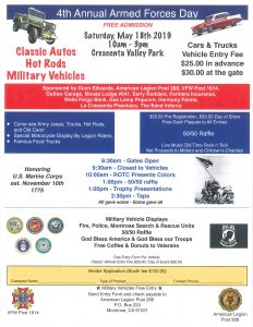 4th Annual Armed Forces Day @ Crescenta Valley Park