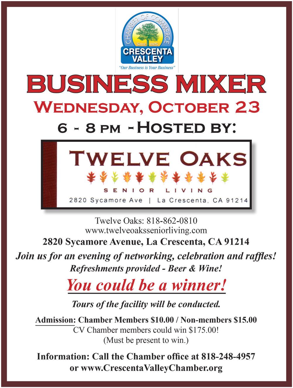 October Business Mixer @ Twelve Oaks Senior Living