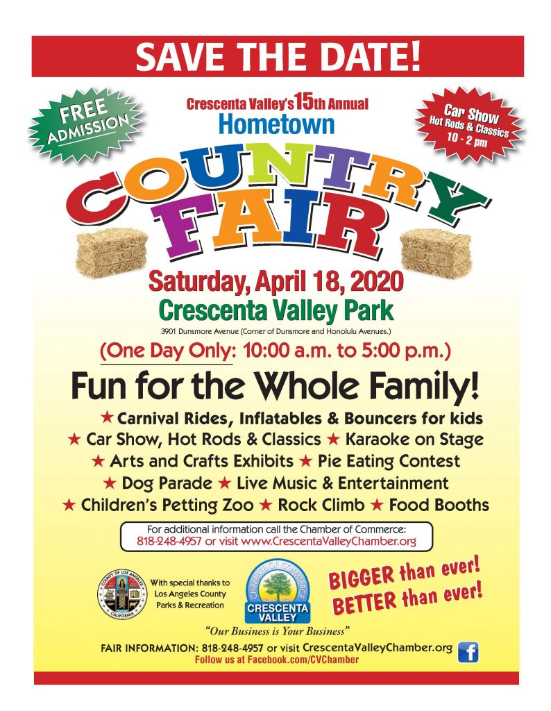 Hometown Country Fair 2020 flyer