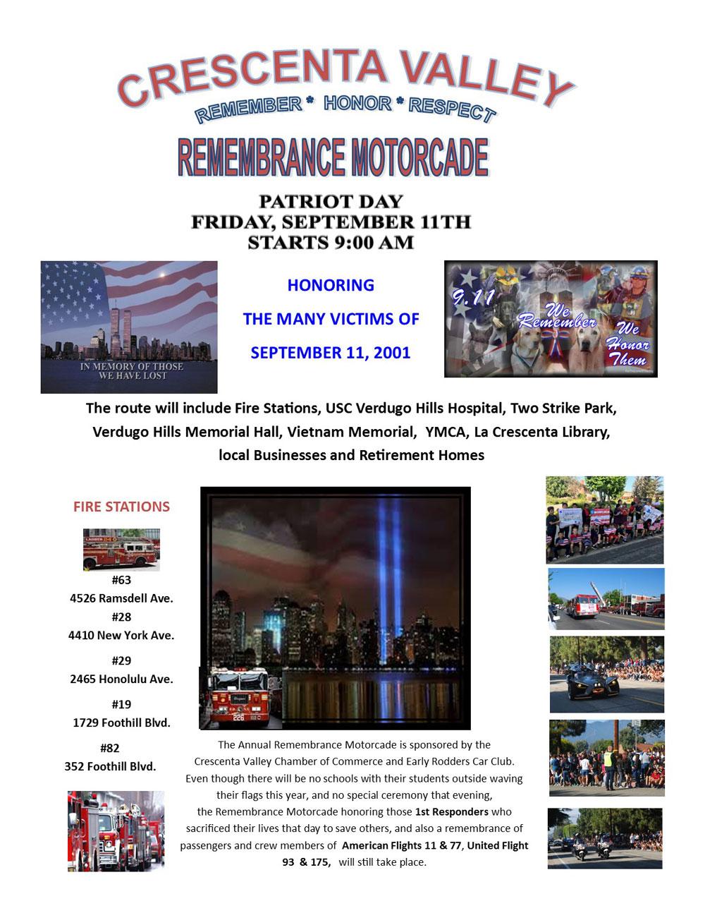 Patriot Day Motorcade